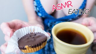 Peanut Butter Cups and Drinking Coffee - ASMR, Soft Spoken