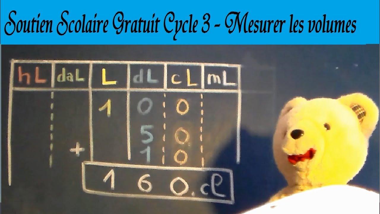 Mesurer les volumes : Maths et unités de conversion en cm1 ...