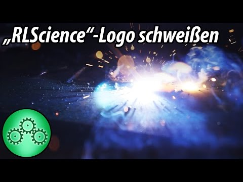 Logo schweißen! - flüssiges Eisen