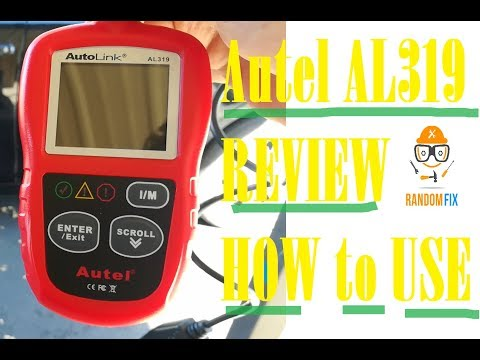 ▶️How to Reset Check Engine Light, AUTEL AL319 Obd2 Scanner Review, CAN diagnostic scan tool