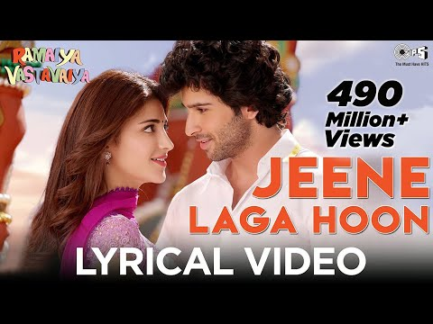 Jeene Laga Hoon Lyrics Video - Ramaiya Vastavaiya - Girish Kumar...