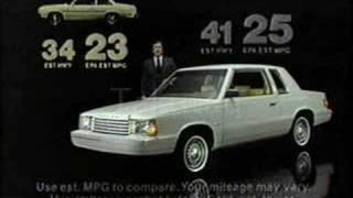1981 Dodge Aries K Commercial