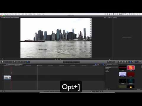 Как сделать стоп-кадр в final cut