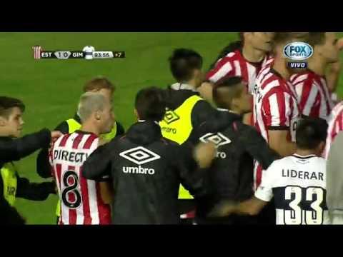 Estudiantes vs Gimnasia - Pelea completa - 2016 - HD