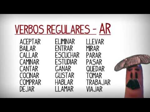 Lista Verbos Regulares E Irregulares Más Usados En Español