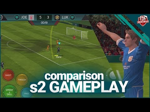 FIFA MOBILE 18 S2 GAMEPLAY FIRST LOOK COMPARISON WITH S1 | SEASON 2 NEW CONTROLS & GRAPHICS