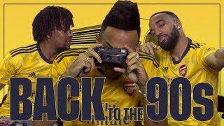Arsenal players take on a 90s challenge | Arsenal away jersey 2019/20