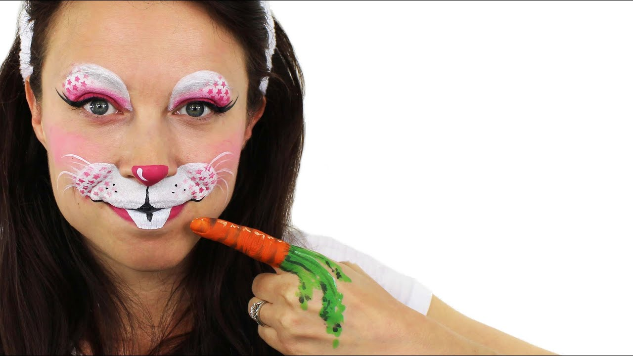 Simple Easter Bunny Face Painting