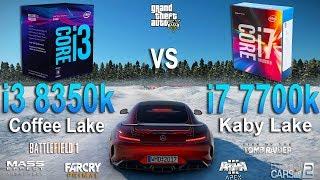 i3 8350k vs i7 7700k Test in 7 Games