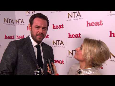 Backstage at the NTAs with Danny Dyer