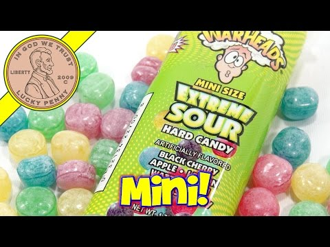 War Heads Mini Size Extreme Sour Hard Candy