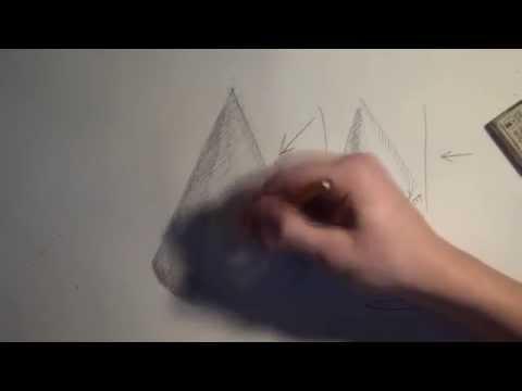 Видео как нарисовать конус