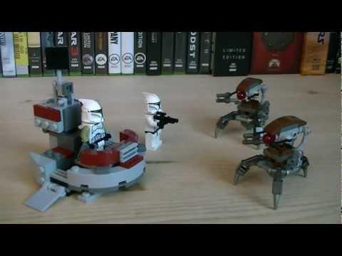 Lego Star Wars Clones vs Droidekas ▶ Lego Star Wars 75000 Clone