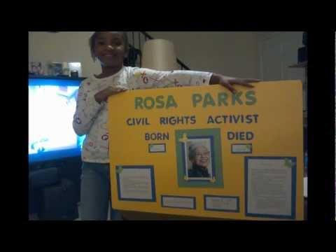 Kaliyah's Black History Presentation: Rosa Parks