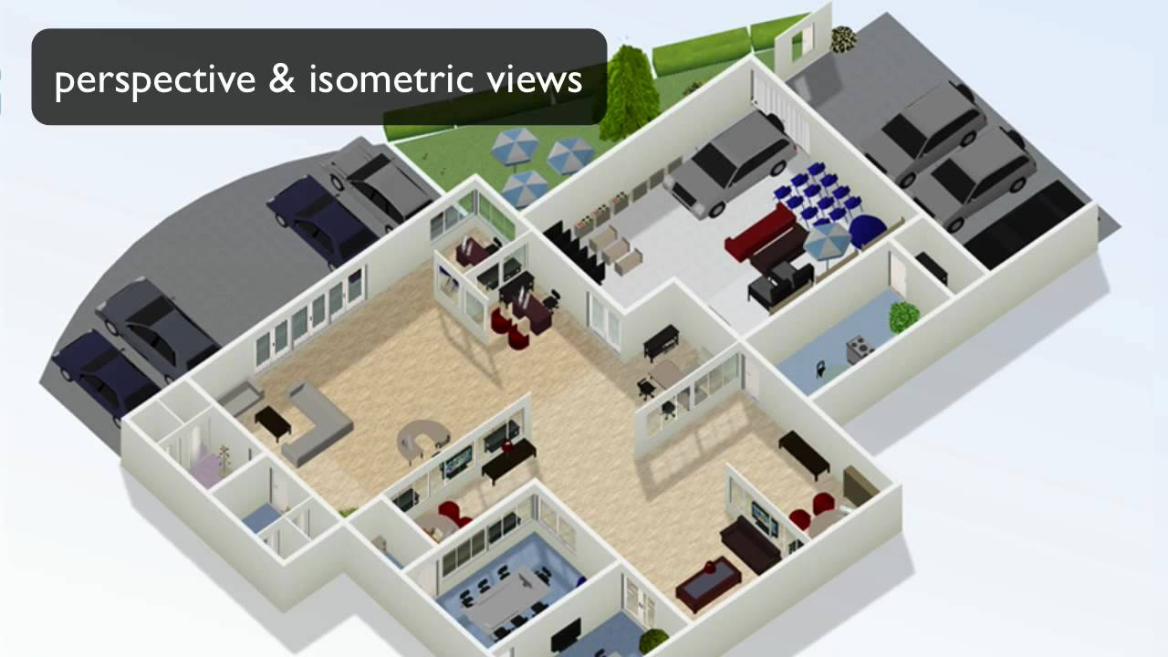 How to draw floor plans online youtube for Build a 3d house online