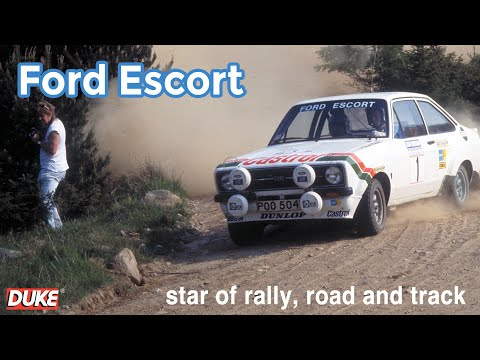Sir Jackie Stewart drives a Ford Escort RS1800 Rally Car