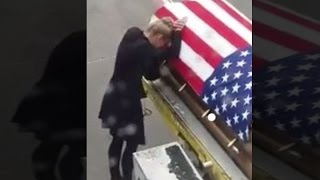 Wife Of Soldier Kisses His Flag-Draped Coffin: 'It Was Heartbreaking'
