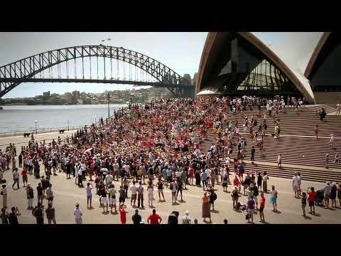 Celebration: Massive Flash Mob Sydney Opera House [BEST VERSION]