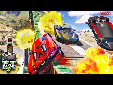 GTA 5 EXPLOSION CITY - Craziest GTA Race EVER!! INSANE STUNT RACE (GTA 5 Funny Moments)