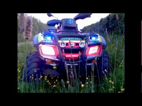 Quad-Response Can-Am Outlander 650 Max with Lights and Siren