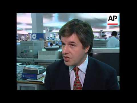 UK: LONDON: WORST STOCK EXCHANGE CRISIS SINCE BLACK MONDAY