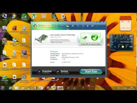 SlimDrivers..actualiza. hacer copias de seguridad y restaurar los driver de tu sistema.