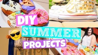 DIY Summer Projects! Room Decor, Clothes, Food & More!