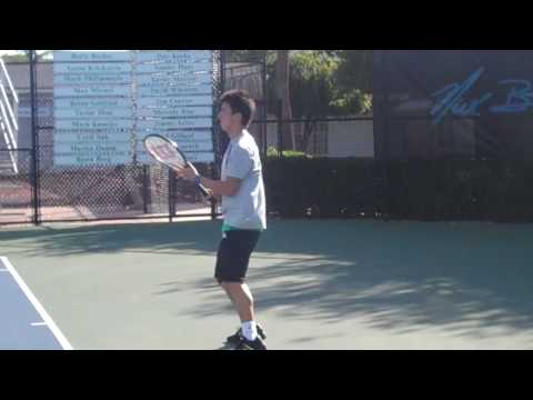 Kei Nishikori and Tommy Haas hit at IMG Bollettieri Tennis Academy Video