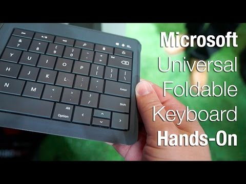 Microsoft Universal Foldable Keyboard hands on