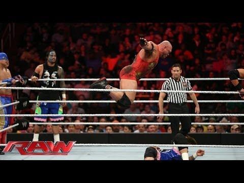 The Usos & Los Matadores vs. Ryback, Curtis Axel & The Real Americans: Raw, March 31, 2014