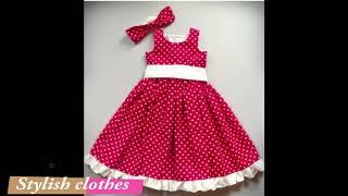 Baby girl dresses party wear red white - baby girl dresses design - 2018