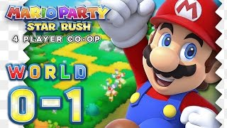 Mario Party Star Rush - Toad Scramble: WORLD 0-1 (4-Player)