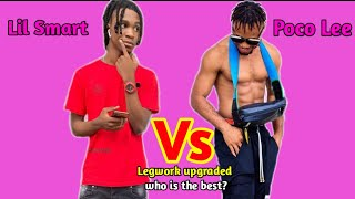 Lil Smart Vs Poco Lee dance part 3 legwork upgraded (who is the best dancer?) #Pocolee #Lilsmart
