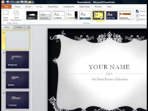 how to create a biography powerpoint