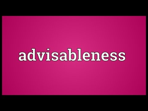 Header of advisableness