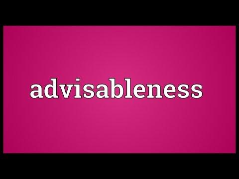 Header of advisableness