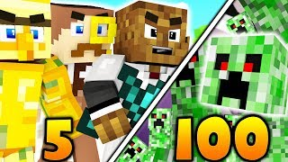 5 VS 100 FAN BATTLE - MINECRAFT MONSTERS INDUSTRIES