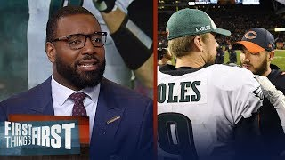 Chris Canty evaluates the Eagles' 16-15 upset win over the Bears | NFL | FIRST THINGS FIRST