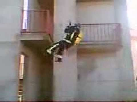 trepa de cuerda bomberos