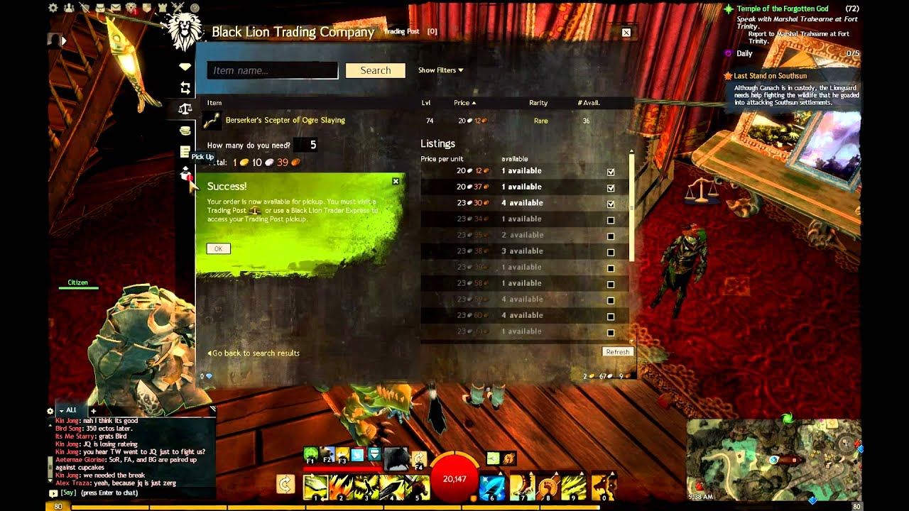 Gw2 trading post search not working