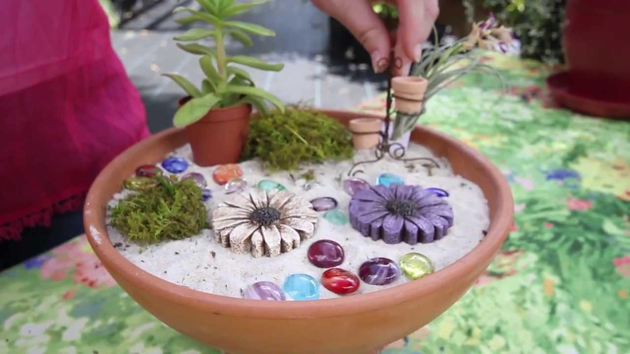 How to make a fairy garden youtube - How to make a fairy garden container ...