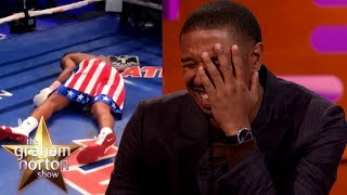 Michael B. Jordan Took A REAL PUNCH From Tony Bellew in Creed!   The Graham Norton Show