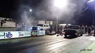 KC spanking them all in the Gas Monkey Garage Truck after Redemption at the Dale