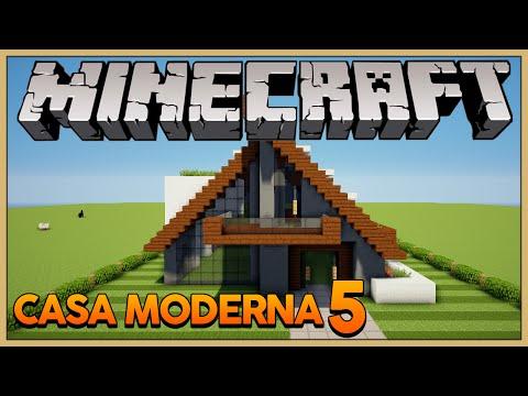 Minecraft: Construindo uma Casa Moderna 5 A Frame House