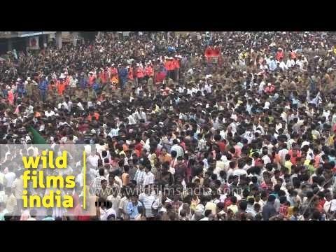 Devotees pull the chariot of Lord Jagannath - Puri, Odisha
