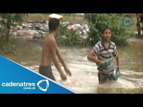 Intensas lluvias inundan 6 municipios de Veracruz; hay desbordamientos de ríos y arroyos