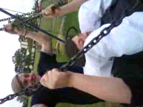 Saturday Night. 9/5/09 - Rhys and Toby. Bumming on the swing. Hilarious. ! :D