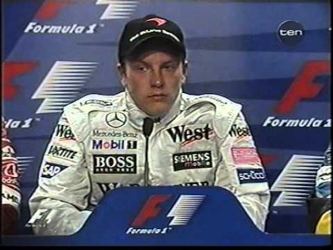 Press conference post-race (Raikkonen 1st victory - Malaysia 2003)