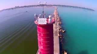 Sheboygan Lighthouse via drone