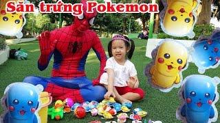 EGG SURPRISE POKEMON OPENING ☀ Săn và bóc Trứng Pokemon ❤ Dâu Tây Channel